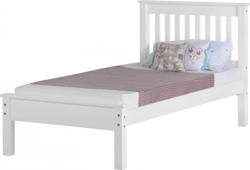 Monaco 3' Bed Low Foot End in White