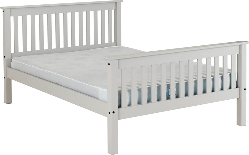 "Monaco 4'6"" Bed High Foot End in Grey"