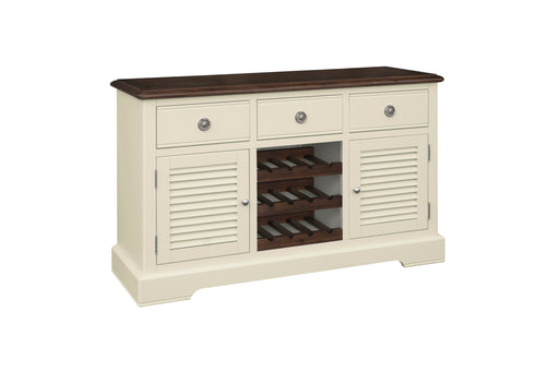 Meghan Walnut Large Sideboard with Wine Rack
