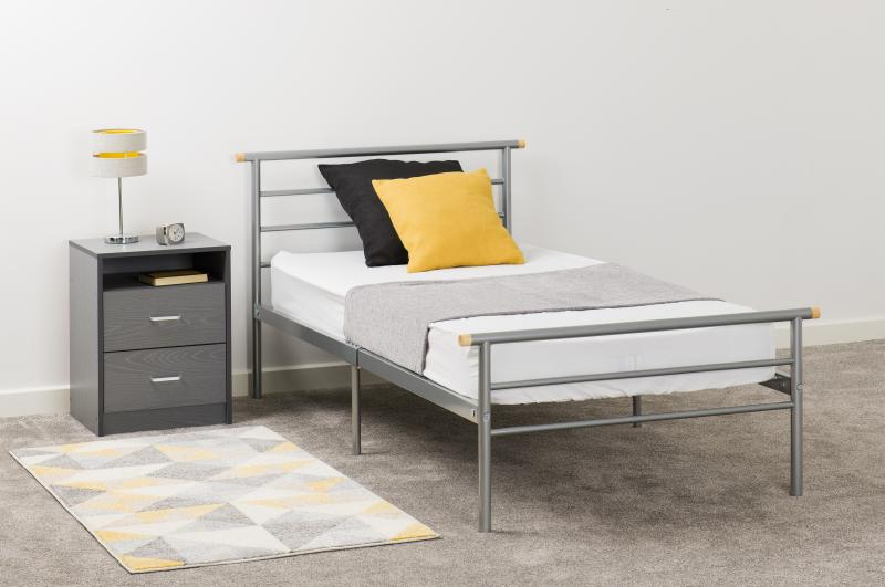 Orion 3' Bed in Silver