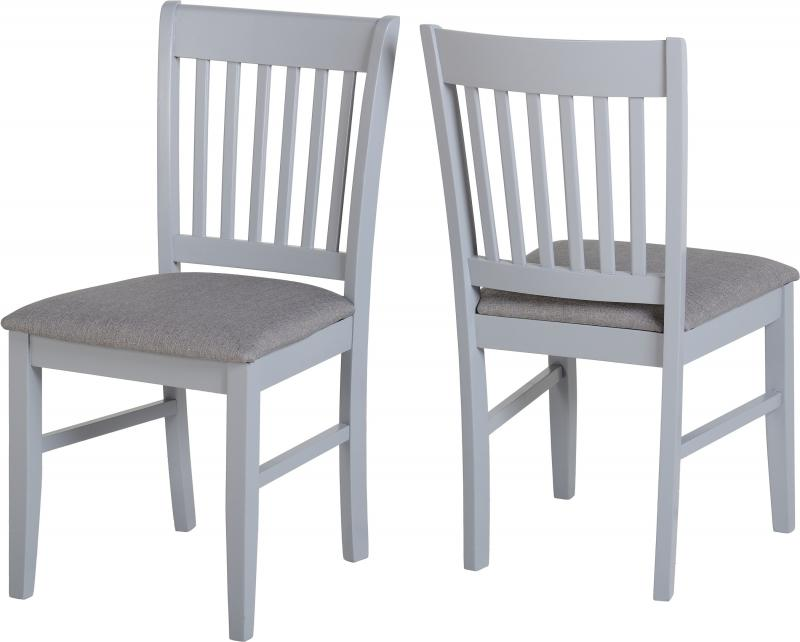 Oxford Extending Dining Set in Grey/Natural Oak/Grey Fabric
