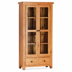Oscar Double Display Cabinet