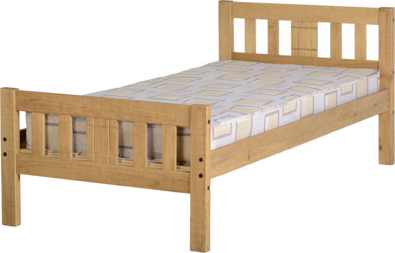 Rio 3' Bed in Distressed Waxed Pine