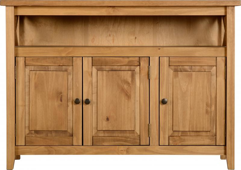 Salvador Tile Top 3 Door Sideboard in Distressed Waxed Pine