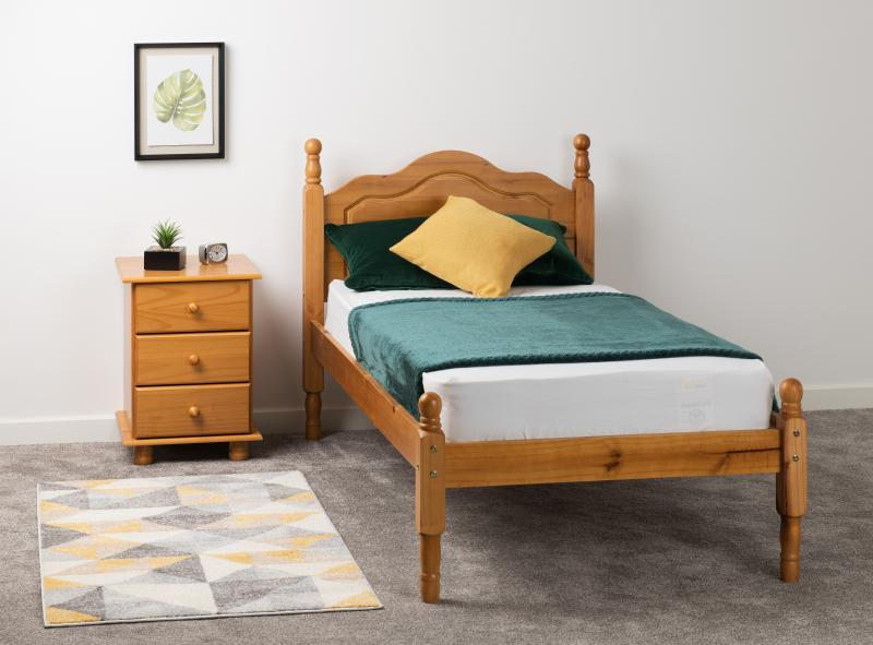Sol 3' Bed in Antique Pine