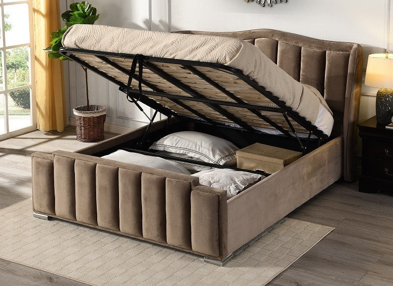 Clare Gaslift Bed Taupe