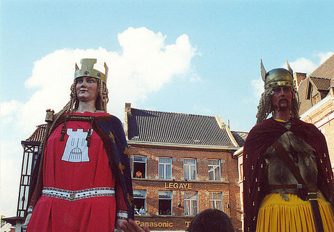 giants and dragons traditions Belgium france