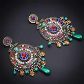 Vintage boho earrings ethnic antique style
