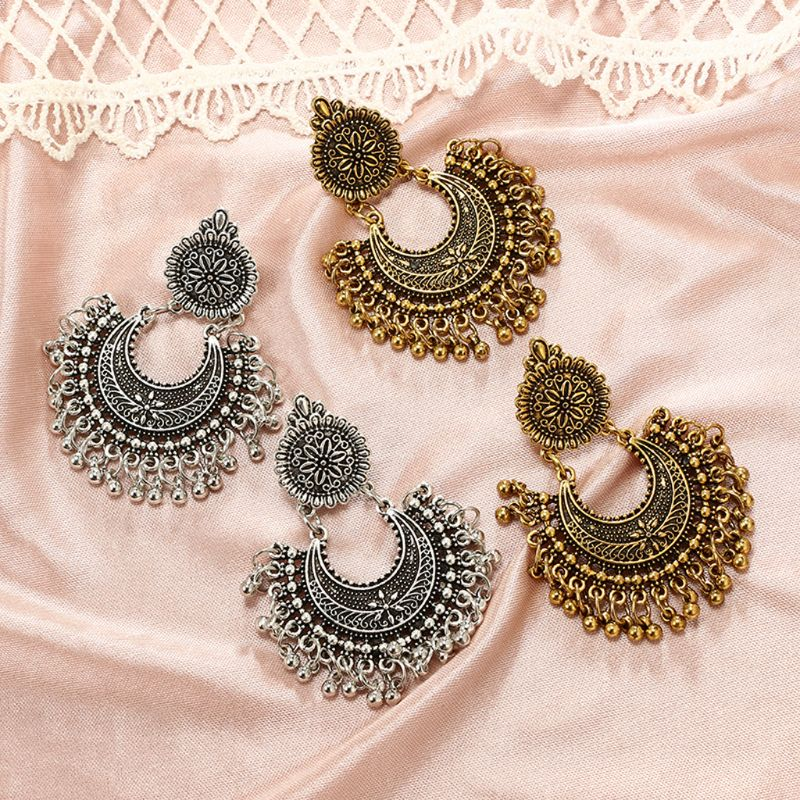 Indian bollywood jewelry earrings [The Best Affordable Online Ethnic Shop] - Unusual Trendy