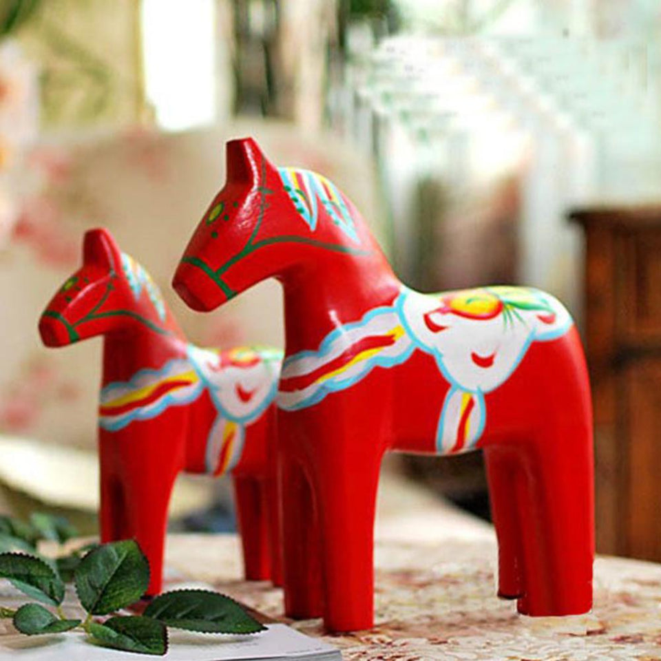 Nordic Sweden Dala Painted Red Horse trendy traditional gifts