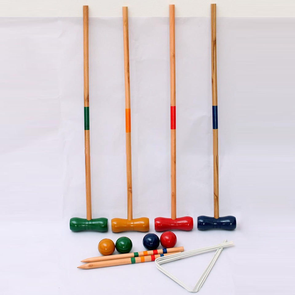 Jeu de croquet anglais traditionnel