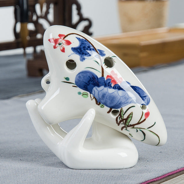 6 Hole porcelain Ocarina Instrument C Tune gifts for husband