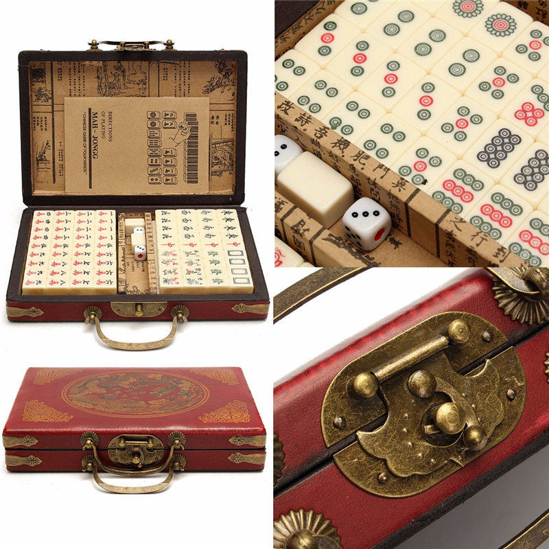 Mahjong Vintage jeu traditionnel chinois