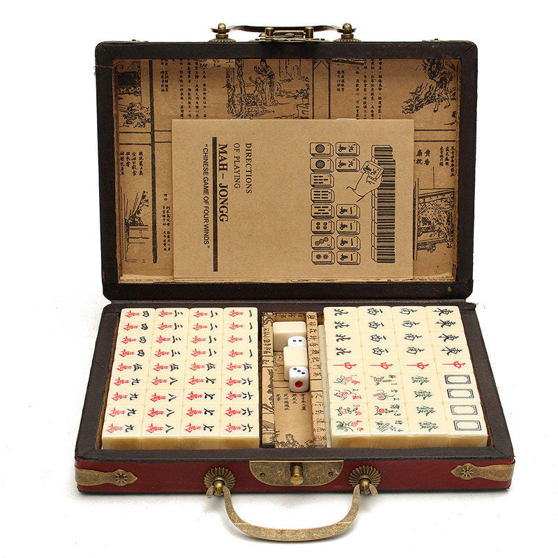 Vintage Mahjong Chinese traditional game gifts for dad