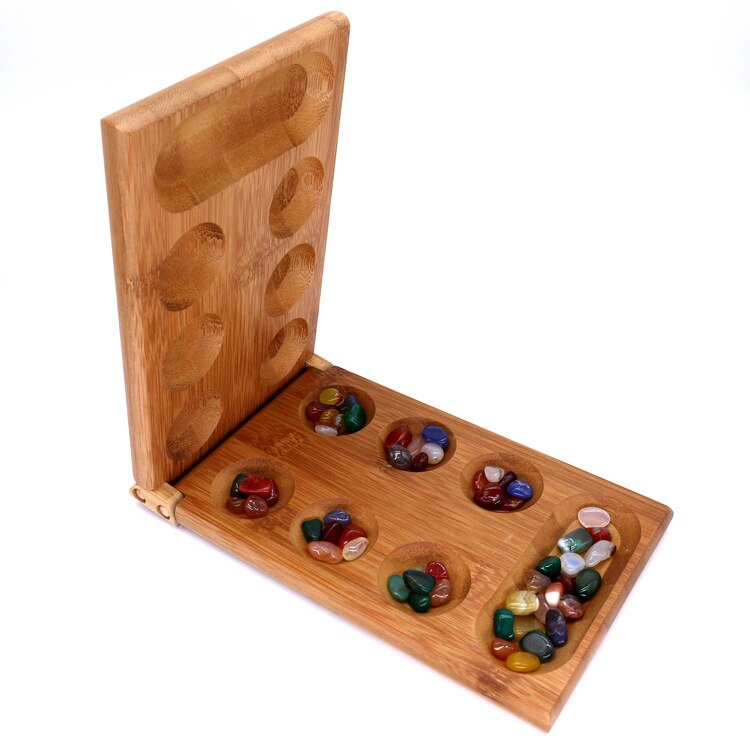 Jeu de plateau traditionnel African Gem Chess Mancala