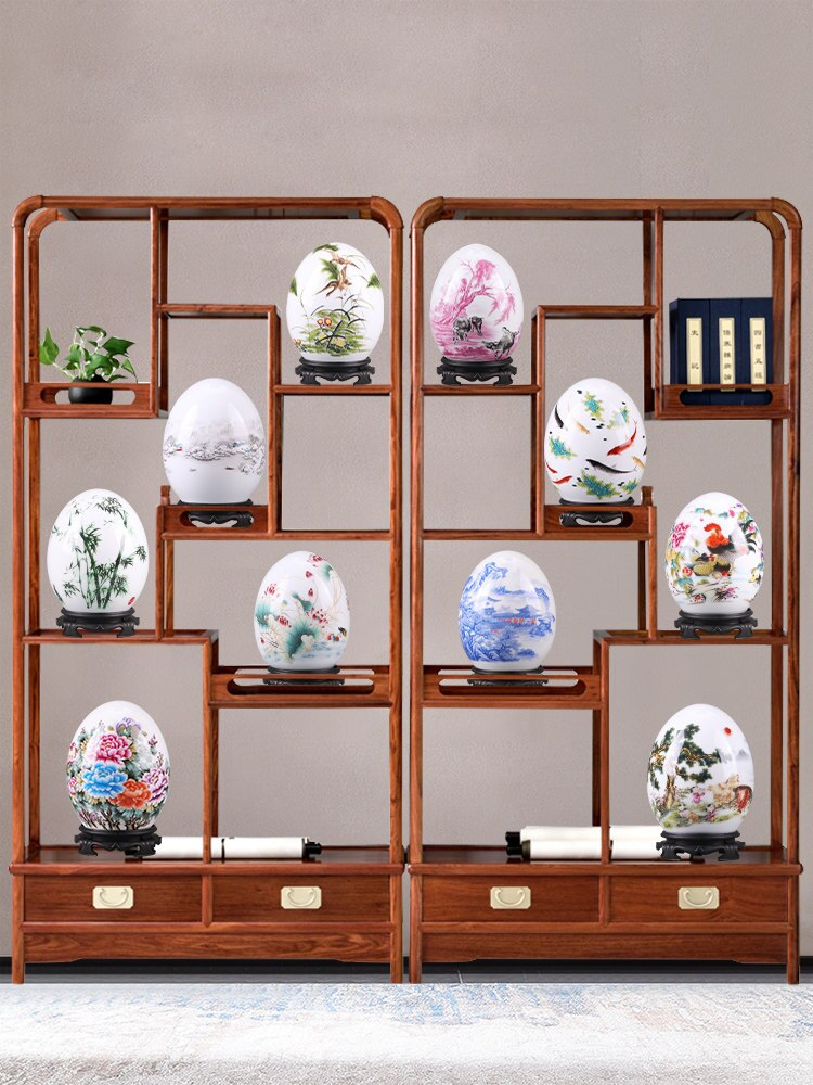 Chinese Jingdezhen Ceramic Egg Home decoration