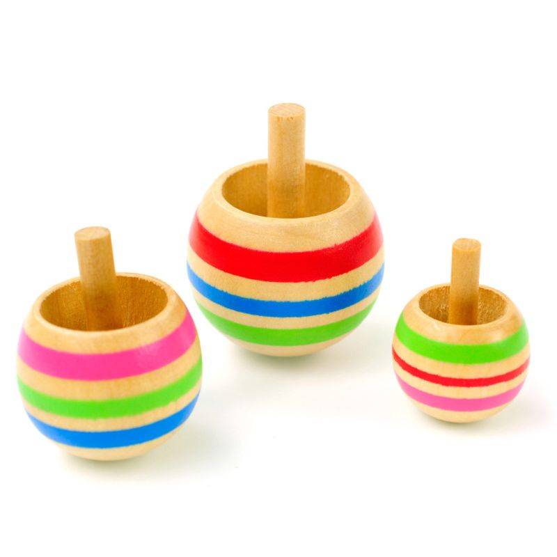 Wooden Spinning Top whirligig for Kids Christmas Gift