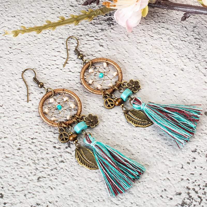 New Bohemian Dream Catcher Earrings For Women