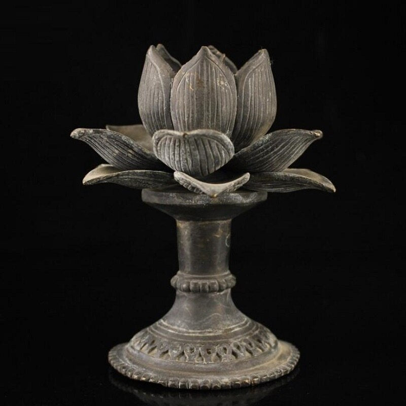 Tibetan temple Handmade Lotus oil lamp