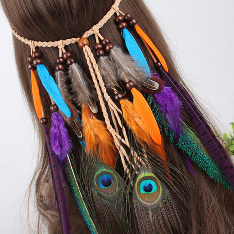 Handgemachte Ornamente indischer Kopfschmuck [The Best Affordable Online Ethnic Shop] - Unusual Trendy