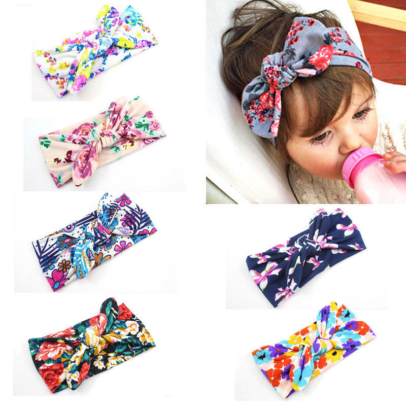 Boho Newborn Toddler Headband Ribbon Elastic Baby Headdress