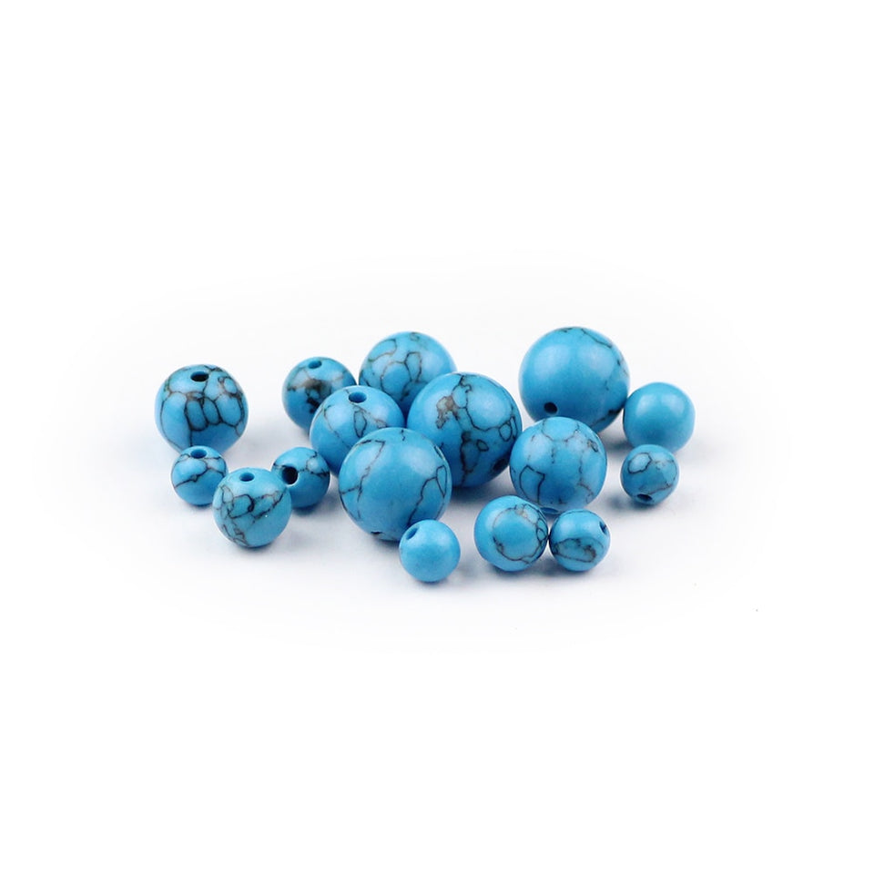Blue Beads Natural stone jewelry DIY