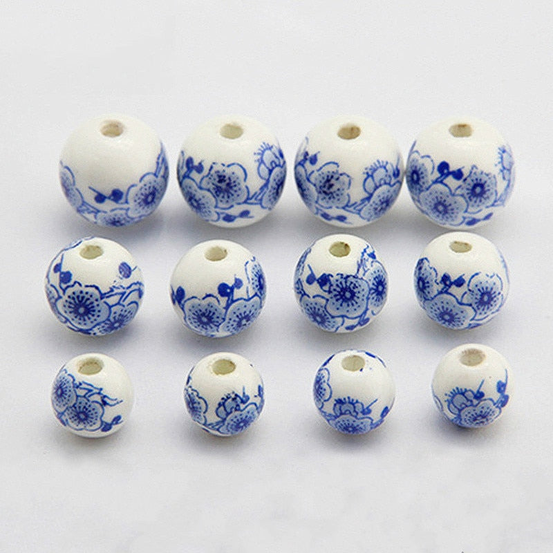 20 Pcs/lot Ceramic Round Beads DIY