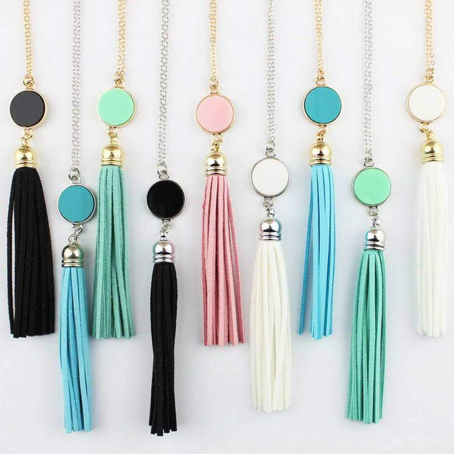 acrylic pendant light shade Long Chain boho necklace [The Best Affordable Online Ethnic Shop] - Unusual Trendy