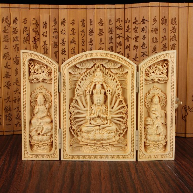Chinese Carved Buddha box [Der beste bezahlbare ethnische Onlineshop] - Unusual Trendy