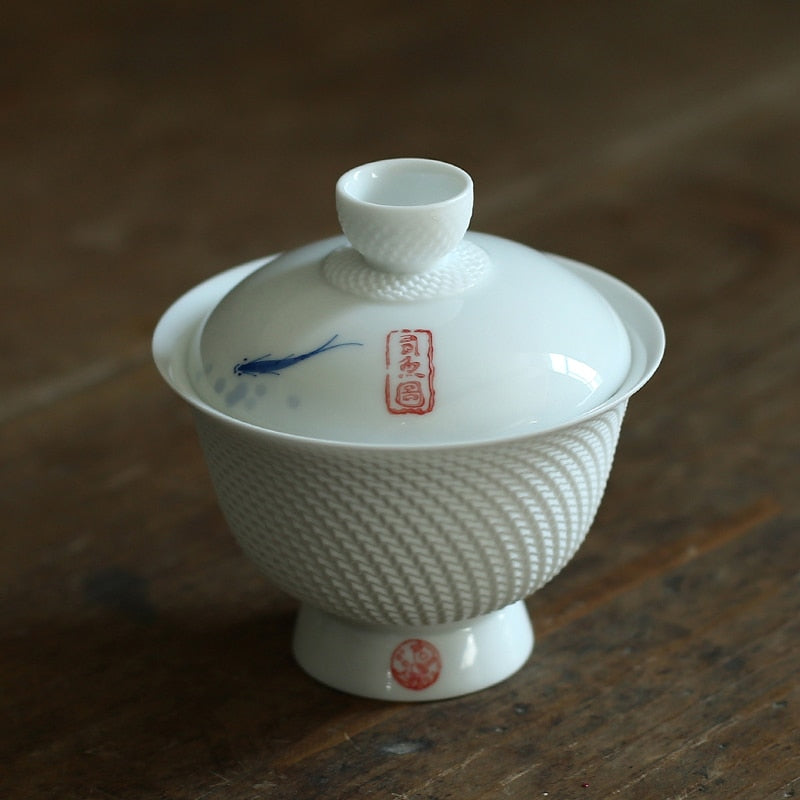 Ceramic gaiwan teacup chinese tea