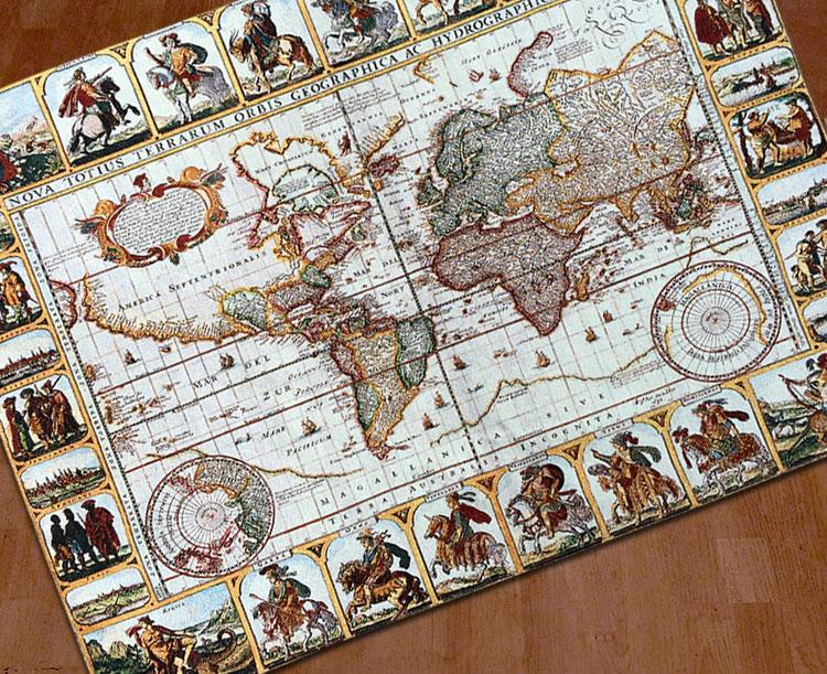 Antique World Map Tapestry