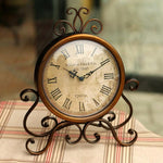 Vintage desktop clock home decoration