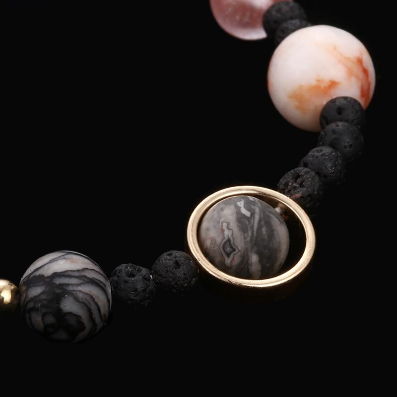 unusual christmas gifts Solar System Bracelet Natural Stone Bead The Eight Planets [The Best Affordable Online Ethnic Shop] - Unusual Trendy