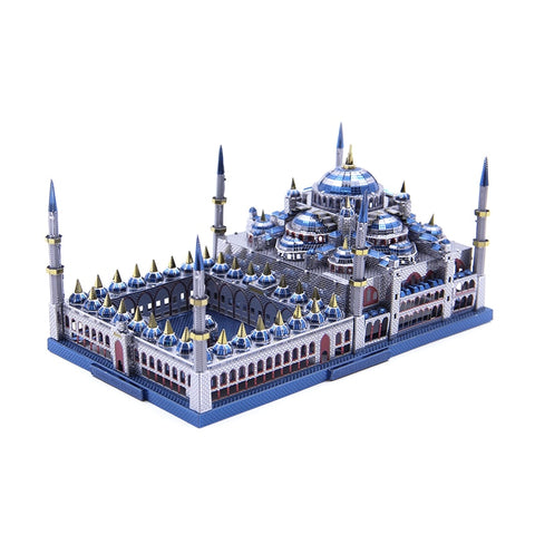 3D metal Puzzle Blue mosque Building Model DIY