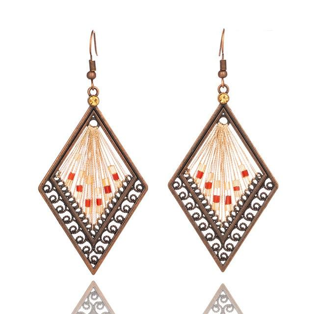 Boho drop earrings ethnic geometric [The Best Affordable Online Ethnic Shop] - Unusual Trendy