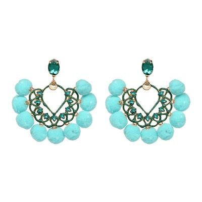 Drop Crystal Charm Boho Earrings [Le meilleur magasin ethnique en ligne] - Unusual Trendy