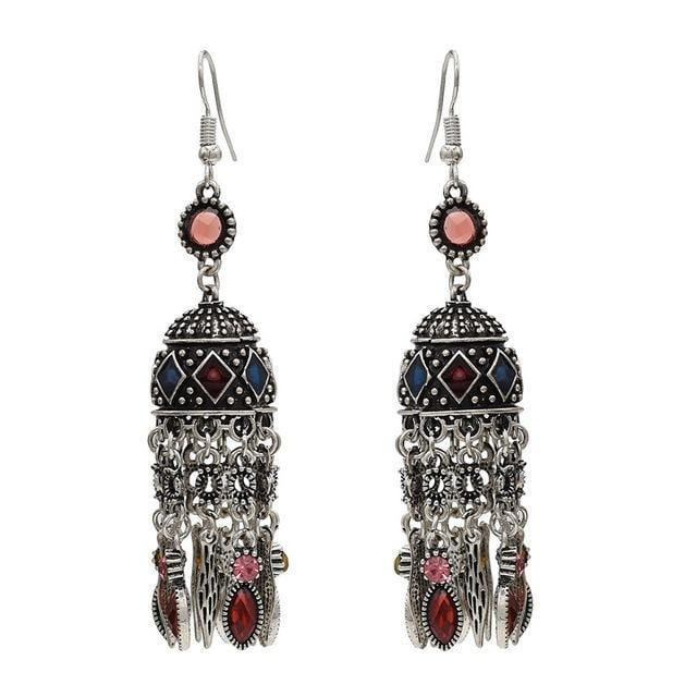 Indian Earrings Unique Vintage Long Drop [The Best Affordable Online Ethnic Shop] - Unusual Trendy