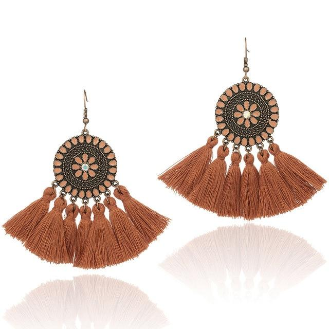 Vintage earrings bohemian Colorful boho [The Best Affordable Online Ethnic Shop] - Unusual Trendy