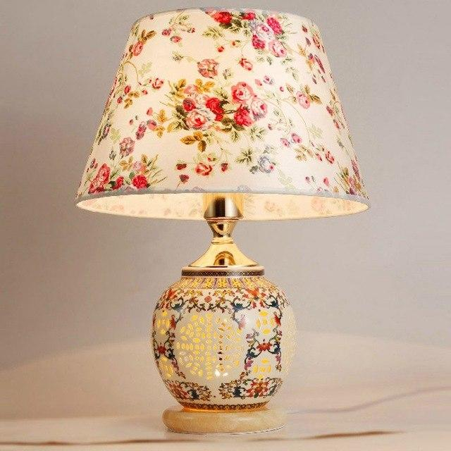 Chinese Classical Ceramic Table Light