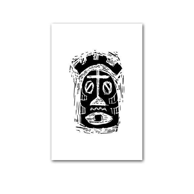 Ancient African Posters Totem Black And White A4 [The Best Affordable Online Ethnic Shop] - Unusual Trendy