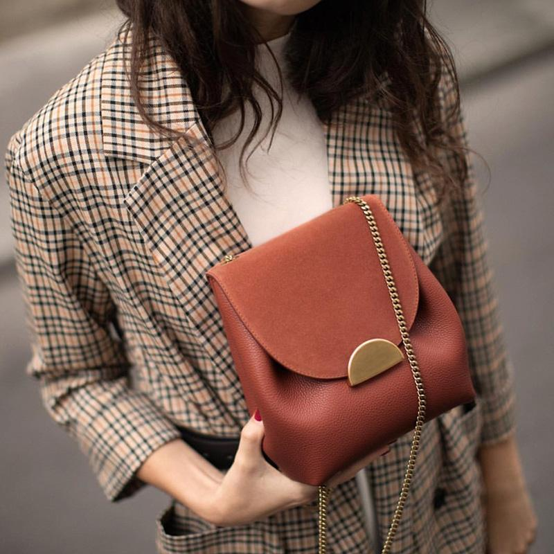 Leather Shoulder Bag Lady Style [The Best Affordable Online Ethnic Shop] - Unusual Trendy