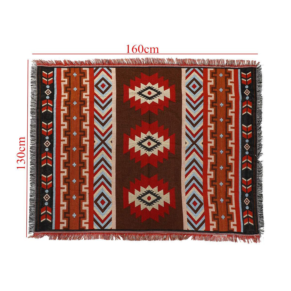 Aztec blanket geometric Native American [The Best Affordable Online Ethnic Shop] - Unusual Trendy unique christmas gifts