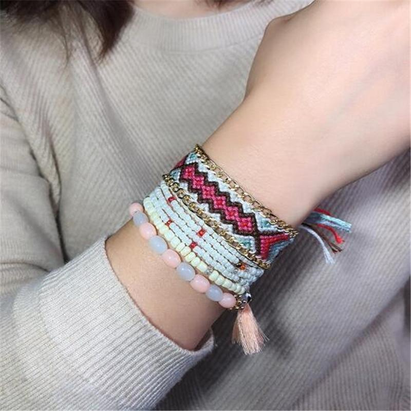 Boho bead bracelets natural stone [The Best Affordable Online Ethnic Shop] - Unusual Trendy