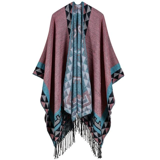 Boho poncho pattern Geometric women [Le meilleur magasin ethnique abordable en ligne] - Unusual Trendy