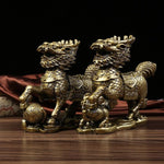 Creative Home Fu Dogs Feng Shui Bronze Resin [The Best Affordable Online Ethnic Shop] - Unusual Trendy