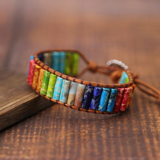 Chakra bracelet stones india unusual gift [The Best Affordable Online Ethnic Shop] - Unusual Trendy