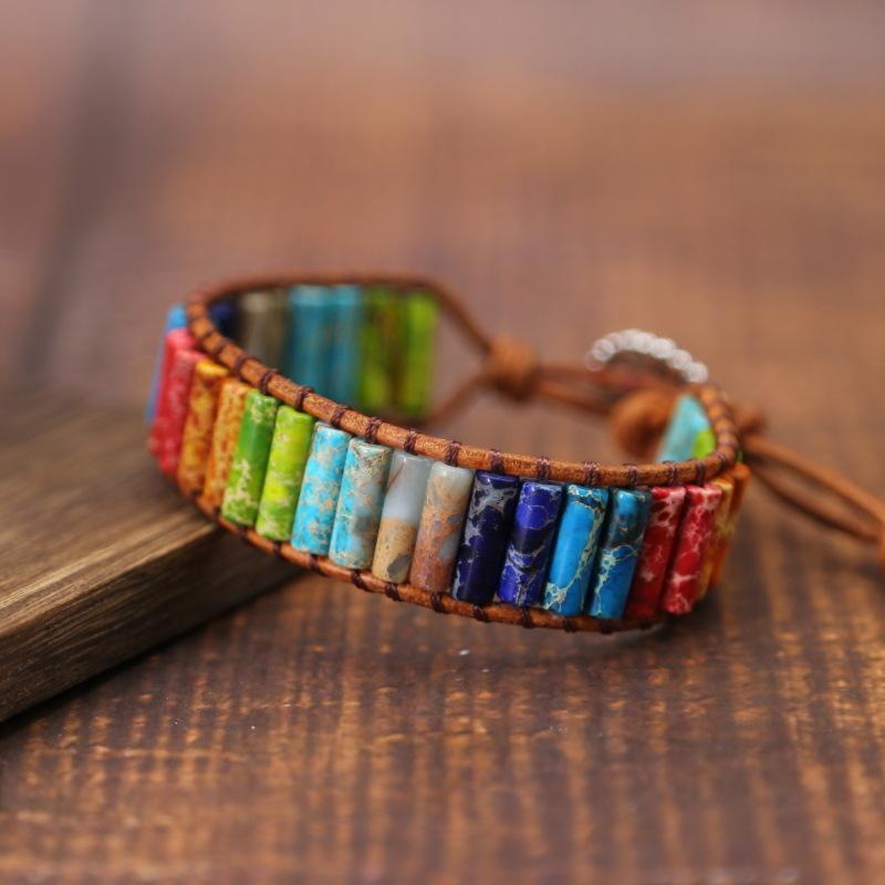 Chakra armband stenar Indien ovanlig gåva [The Best Affordable Online Ethnic Shop] - Unusual Trendy