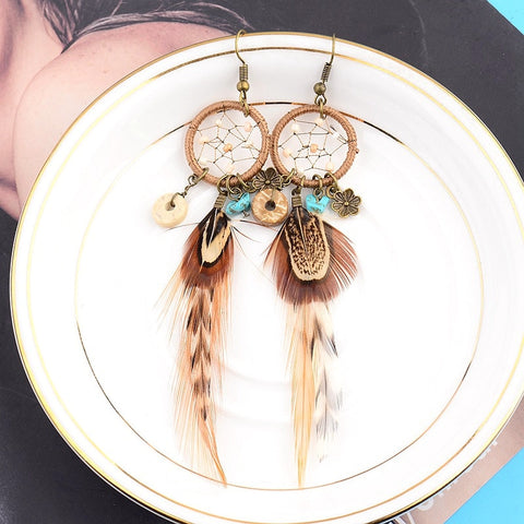 Indianer Dreamcatcher Ohrringe