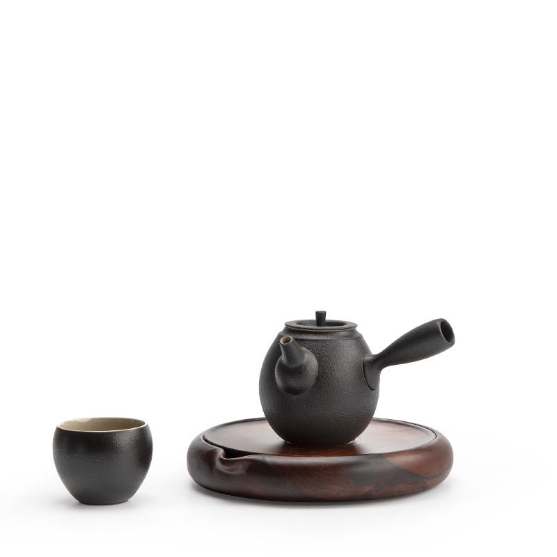 Chinese wood teapot holder