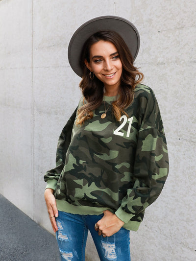 Camo Long Sleeve Shirts & Tops